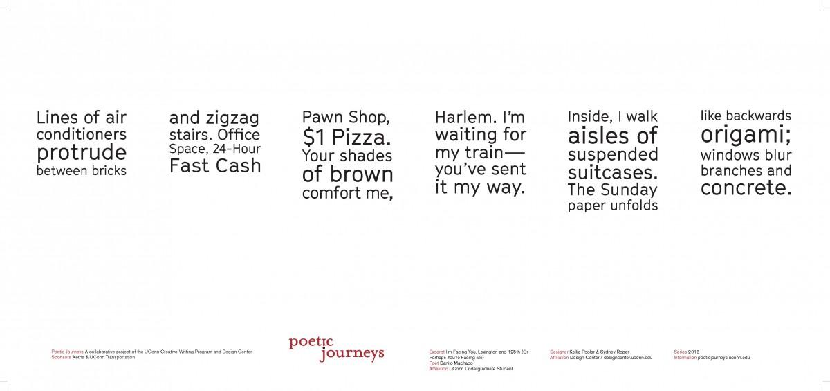 I'm Facing You, Lexington and 125th (Or Perhaps You're Facing Me) / Danilo Machado / Designers: Kellie Pcolar & Sydney Roper