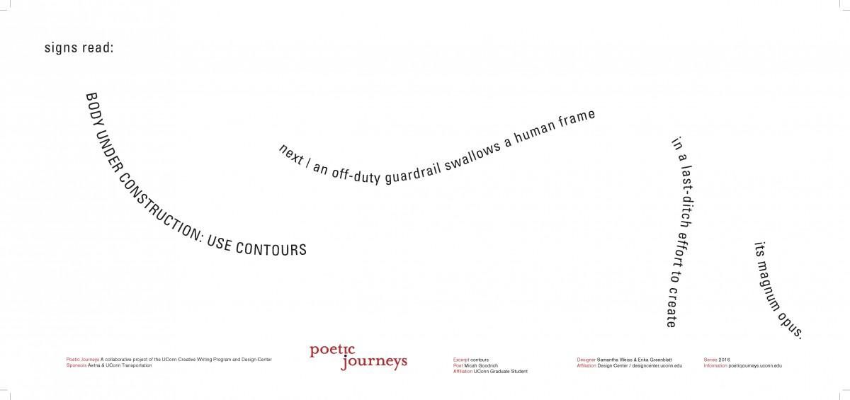 contours / Micah Goodrich / Designers: Samantha Weiss & Erika Greenblatt