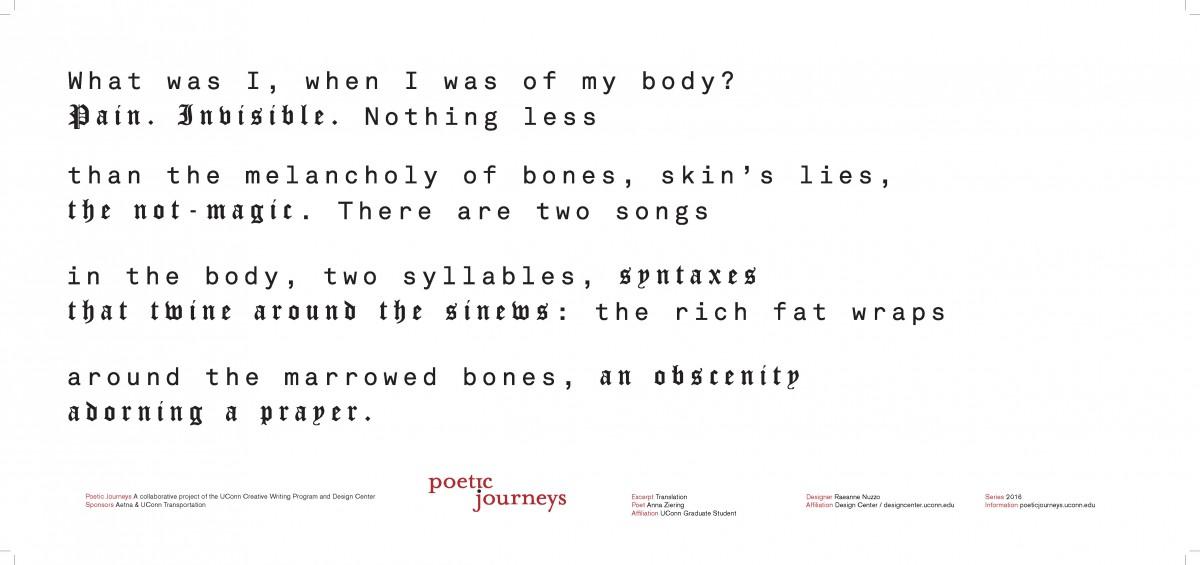Translation / Anna Ziering / Designer: Raeanne Nuzzo